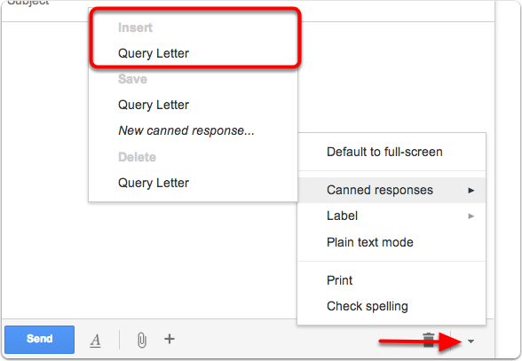 How to Save Time Querying Agents Using Gmail's Canned Responses